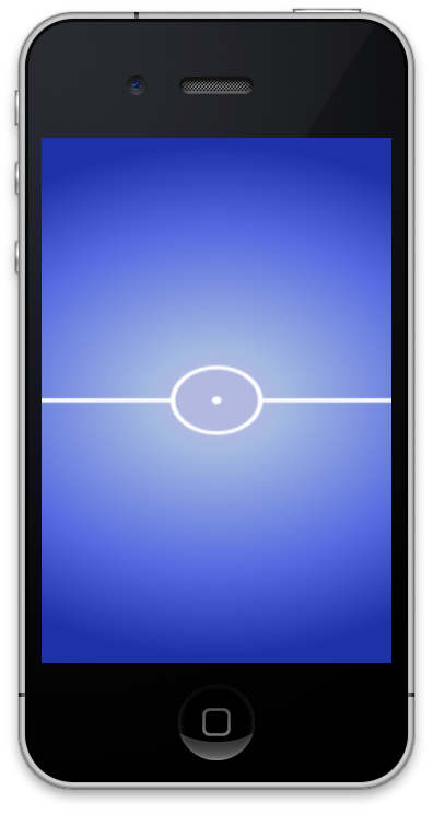 iOS Simulator, showing the texture on the screen
