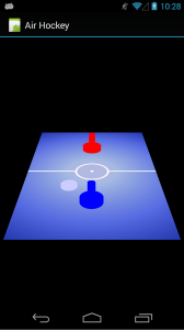 Air Hockey with touch, running on a Galaxy Nexus