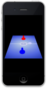 Air Hockey with touch, on iOS